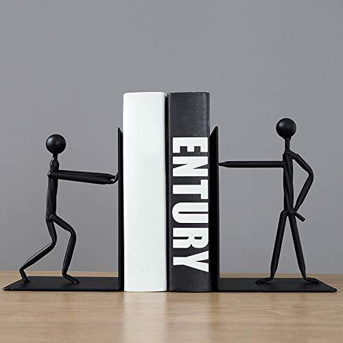 QXTT Buchstützen Skulptur Abstrakte Figur Handgemachte Statue Home Study Schreibtisch Bücherregal Büroschrank Kunst Ornamente Geschenk -