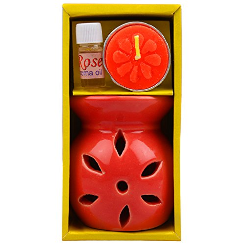 Candle-Ceramic-Diffuser-for-Fragrance-and-Light-Rose-Includes-Candle-and-Oil-Great-Indian-Sale-Diwali-Offer-4-8Oct