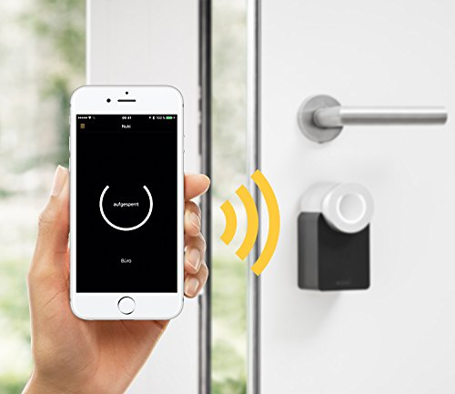 Nuki Combo - Elektronisches Türschloss (Smart Lock und Bridge) - Automatischer Türöffner mit Bluetooth und WLAN - für iPhone und Android - Smart Home - IFTTT - Amazon Alexa - Google Home (Notebook Combo Lock)