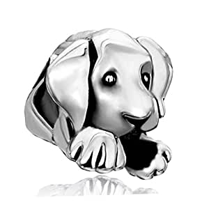 Pugster schläfrig Hund Bead Charm Passt mit Chamilia Chamilia Charms [Schmuck]