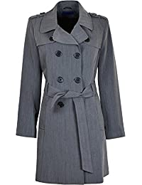 Kentex Online Womens Double Breasted Long Coat Fit and Flare Ladies Winter Coat With Inside Lining
