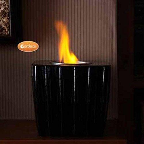 Gardeco Square Gel Burner Black Glazed