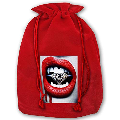 (Jkimiiscute Large Bags Blood Diamond X'Mas Red Gift Bags for Kids Presents Xmas for Personalization)