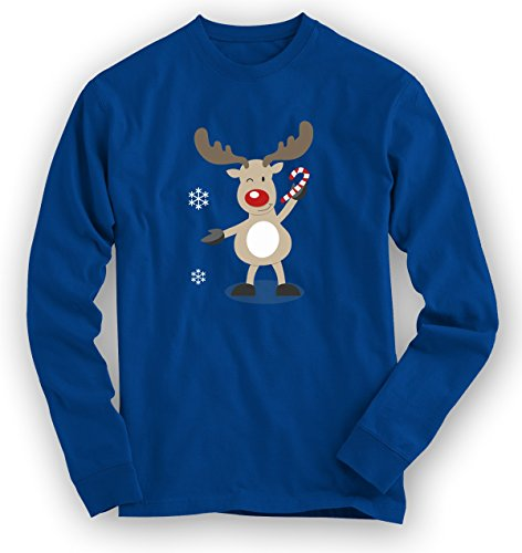 Christmas Sweatshirt #10 | Rentier | Weihnachten | Santa Claus | Nikolaus |Pullover |Pulli © Shirt Happenz dunkelblau (royal blue F324)
