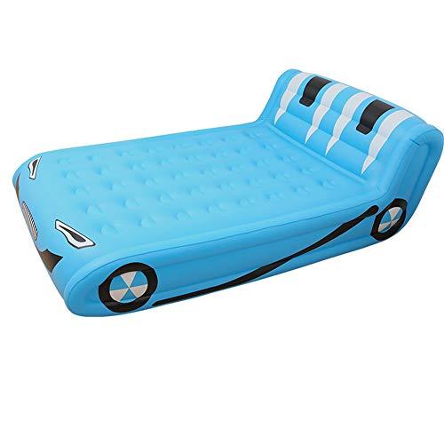 ZOUBIAG Aufblasbares Bett Süßes Großes Bett Im Freien (Color : Blue) - Weiche Wärme-matratze-auflage