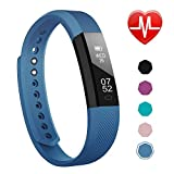 LETSCOM Fitness Tracker, Activity Tracker Watch with Heart Rate Monitor, Slim Touch Screen