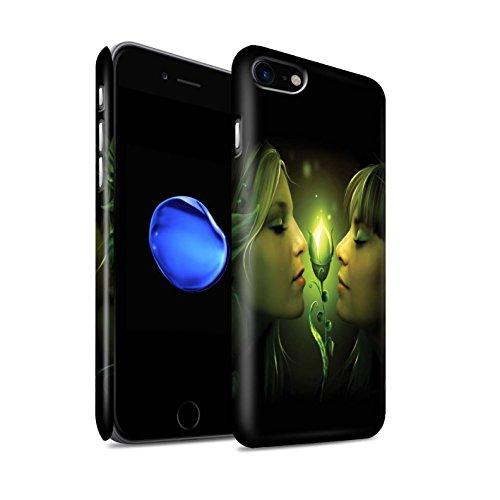 Officiel Elena Dudina Coque / Clipser Matte Etui pour Apple iPhone 8 / Diamants congelés Design / Art Amour Collection Relation amicale