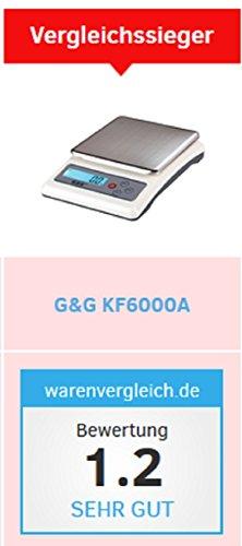 G&G KF6000A oder KF3000A 0,1g – 6000g Präzisionswaage Küchenwaage Briefwaage Tischwaage (KF3000A) - 4