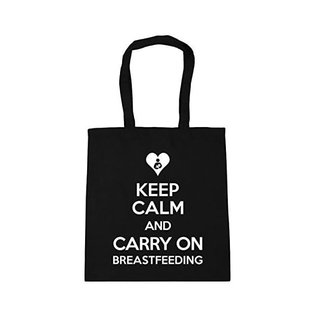 HippoWarehouse Keep Calm and Carry On Breastfeeding Tote Shopping Gym Beach Bag 42cm x38cm, 10 litres