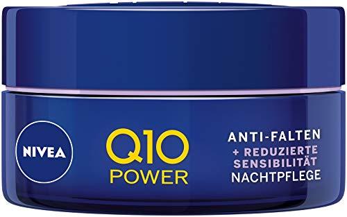 NIVEA Q10 Power Anti-Falten + Reduzierte Sensibilität Nachtpflege für jünger aussehende Haut, feuchtigkeitsspendende Nachtcreme, 2er Pack(2 x 50 ml)