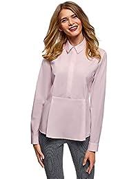 Amazon.es  volantes - Rosa   Blusas y camisas   Camisetas bff7fd4d4f0