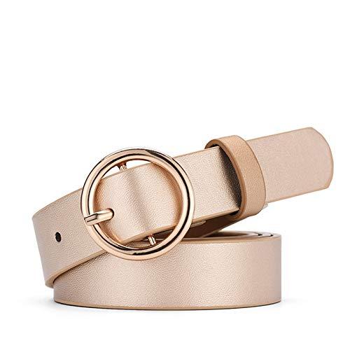 Daesar Cinturon Mujer Negro Cuero Rosa Cinturones