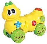 Navystar Musical Roll Along Caterpillar Playmates, White/Green/Yellow