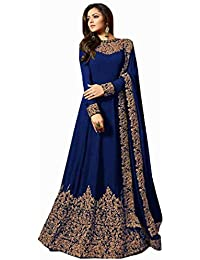 b3370fa78 Siddharth Fab Women Georgette Long Anarkali Salwar Suit Gown With Dupatta