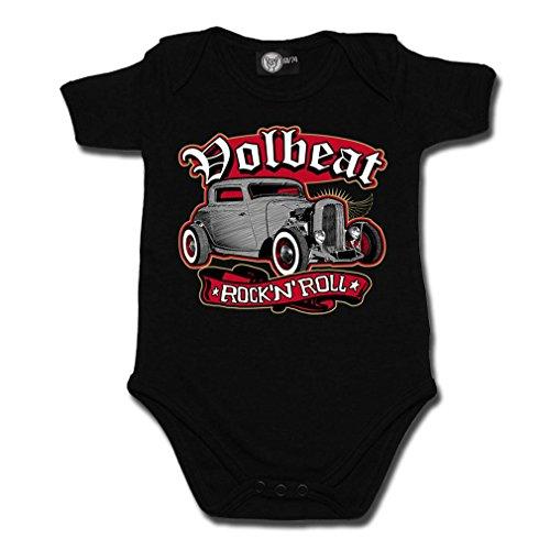 Volbeat Baby body-Rock 'n' roll pagliaccetto nero nero 12-18 mesi