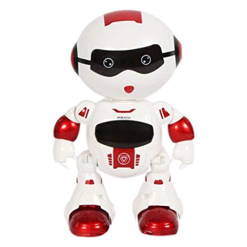 Webla Télécommande Tactile Sensible Robot Rouge Télécommande sans Fil Robot Intelligent Enfants Jouet avec Musique Lumières Cadeau
