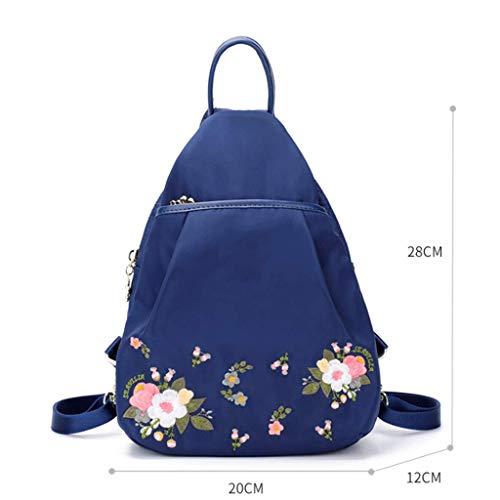 5a43a67bfae9 NJ Mochila- Oxford Spinning Canvas Backpack Student Backpack Travel Bag  20x12x28cm (Color : Royal Blue, Tamaño : 20x12x28cm)