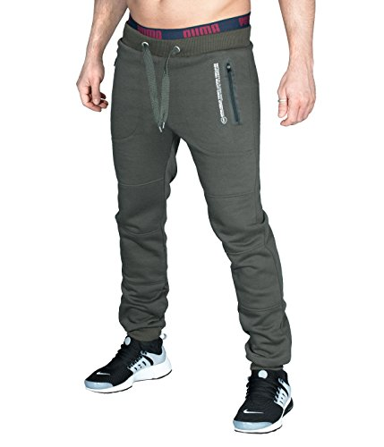 BetterStylz ItchBZ Long Herren Jogginghose Jogger Hose Trainingshose Fitnesshose Regular Fit (Large, Dunkel Grau) (Shorts New Balance Classic)
