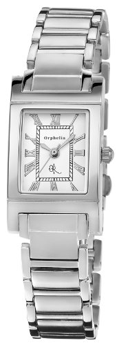 Orphelia Damen-Armbanduhr Roman Analog Quarz Edelstahl