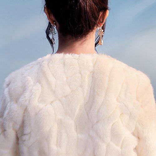 Insun Donne Scialle Festa Wedding Moda scialli Elegante inverno Eco-pelliccia avvolgere scialle Capispalla Caldo Avorio