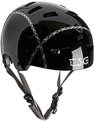 TSG Evolution Graphic Design - Casco para monopatín, color negro, talla L/XL
