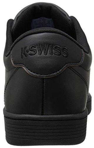 K-Swiss Court Pro II CMF Hommes Cuir Baskets Noir/gris métallique