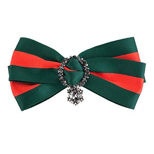DDLLA Grosgrain Woven Stripes Pre-Tied Ribbon Neck Fliege Pin Schmuck Damen Accessoires für Frauen Elegante Party Fashion Pins für Jacken Damen Schmuck -