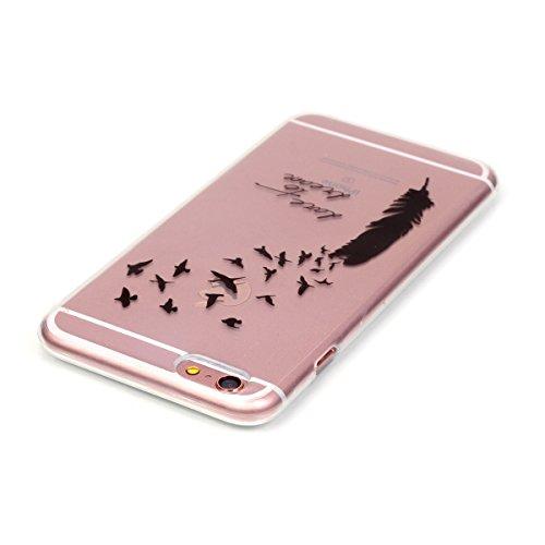 Custodia per Samsung Galaxy A32015, in morbido TPU, ultra sottile, trasparente, flessibile, SM-A300, TOYYM, colorata con disegno stampato, protettiva, motivo: fiore, con penna antipolvere Colour-2