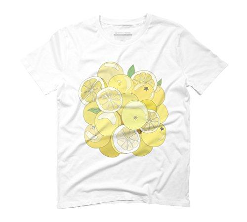 Fresh Lemon Men's Graphic T-Shirt - Design By Humans White