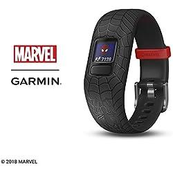 Garmin Vívofit Jr. 2 - Monitor de actividad para niños, Marvel Spider-Man - Black (Banda ajustable), Edad 4+