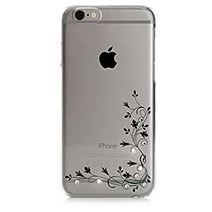 Impressly Hülle für iPhone 6s, Hülle für iPhone 6, Schutzhülle, Handyhülle, Silikon, TPU, Soft Case mit Strasssteinen - Climbing Plant