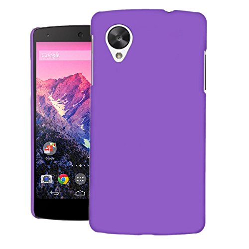 ZOUK Thin Fit Case for LG Nexus 5 D821 Back Cover Sleek Rubberised Matte Hard Case Back Cover For LG Nexus 5 D821 (Purple)  available at amazon for Rs.170