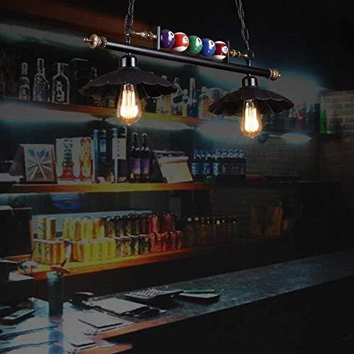 AXCJ Kronleuchter Retro Nordic Industrial Wind, Bügeleisen die Hardware, dumme, BlackBerry, E27 Lichtquelle, Restaurant Lichter Loft Bar Billard Lichter, Lampen und Röhren von A ++,B: 2 Köpfe - Billard 2 Licht