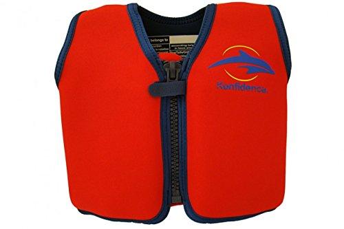 Preisvergleich Produktbild Kinder-Schwimmweste 2J-R-101 aus Neopren, Rot/Gelb, Größe: 12-16 kg (2-3 Jahre), Brustumfang 56 cm