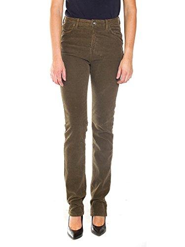 Carrera Jeans - Pantalone 753 753N0950S per donna, modello dritto, tinta unita, velluto, vestibilità normale, vita alta 776 - Verde