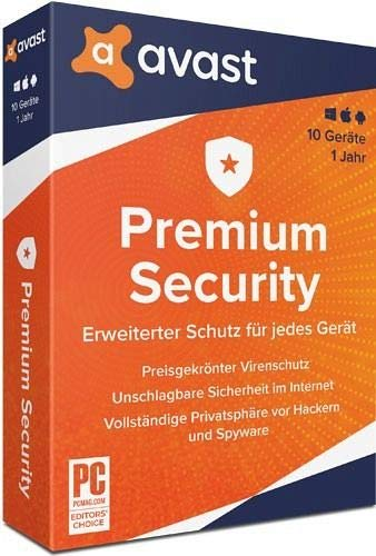 Avast Premium Security - 10 Geräte - 1 Jahr|2020|10 Geräte - 1 Jahr|10 Geräte - 1 Jahr|PC, Laptop, Smartphone, Tablet, iPhone, iPad|Download|Download