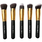 Puna Store® 5 piece Kabuki Foundation Brush Set (Black+Gold)