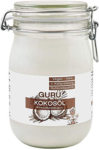 Guru Olio di cocco nativo biologico 1000 ml … (1 x 1000ml)