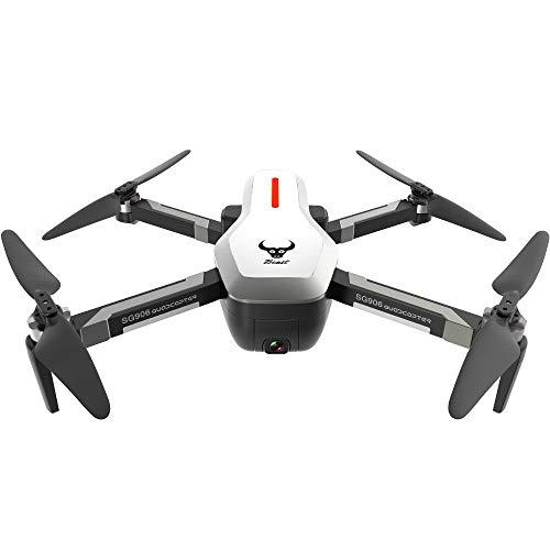 Dtuta Drohnen Mit Kamera,Vierachsen-Flugzeuge 120 ° Weitwinkel-Anti-Shake-Objektiv + Gps Optischer Fluss Duale Positionierung 2800 Mah GroßE Batterie-Gesten-Kamera Video-Full-Range-Luftdrohne