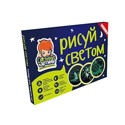 0Miaxudh Zeichenbrett Spielzeug, Zeichnen mit Licht Spaß blinkende magische Malerei Zeichenbrett, pädagogische Kinder Spielzeug 7#