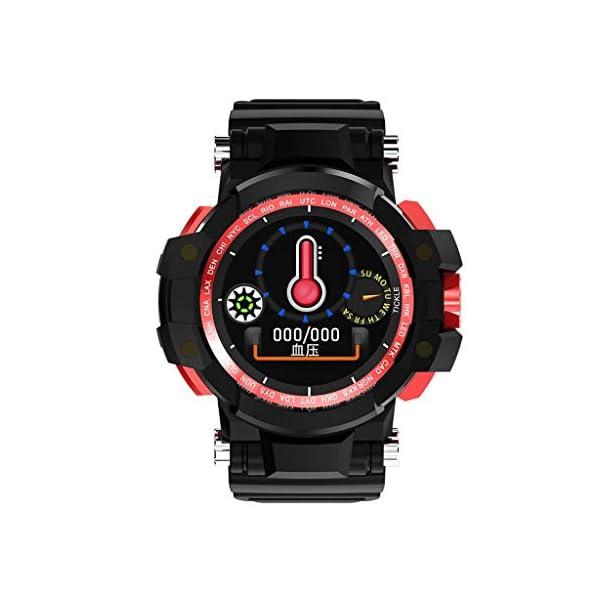 12shage Reloj Inteligente Hombre, IP68 Smartwatch con Pulsera Actividad Reloj Deportivo Monitor de Sueño Pulsómetro Podómetro para Andriod y iOS 4