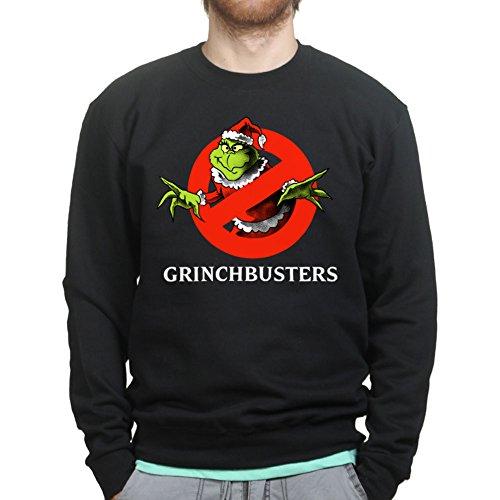 The Grinch Busters Ghost Christmas Xmas Party Santa Sweatshirt
