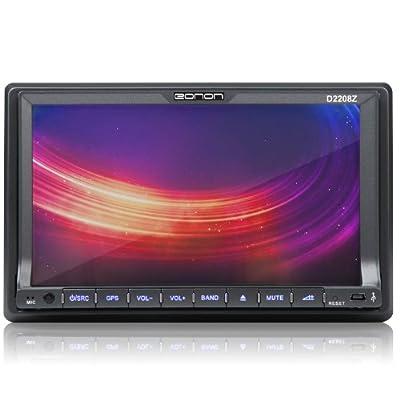 """Eonon D2208Z 7""""/18cm Autoradio DVD Bluetooth IPOD MP3 USB Touchscreen digital RDS Lendrad-FB schwarz Doppel 2 DIN von Eonon auf Reifen Onlineshop"""
