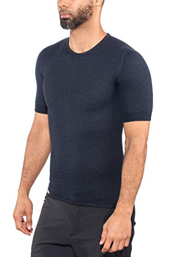 Woolpower Damen Herren Funktionsshirt TEE 200 kurzarm, Farbe:Dunkelblau, Größe:XL -