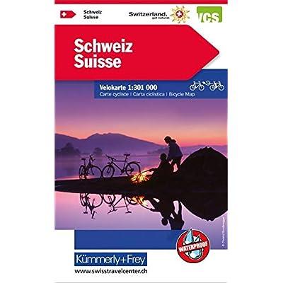 Schweiz: Velokarte, Massstab 1:301 000, Waterproof (Kümmerly+Frey Velokarten)