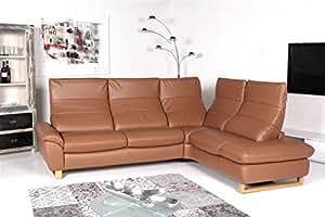 machalke sofa global ecksofa leder tiger calvados amazon. Black Bedroom Furniture Sets. Home Design Ideas