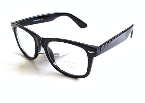 Gafas de Pasta Sin Graduar Unisex color Negro con Funda, Nuevas