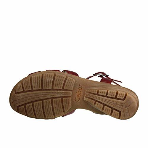 GABOR - Damen Sandaletten - Rot Schuhe in Übergrößen Mittelrot