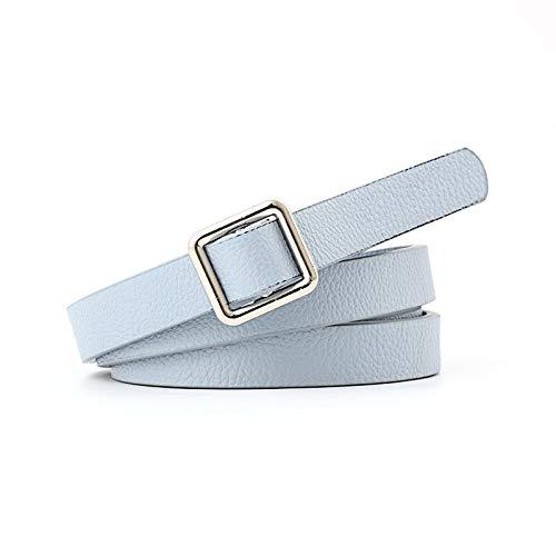 LXCDD Womens Gürtel für Exquisite Silber Square Buckle Taille aus weichem Leder weibliche Hosen Kleid Gürtel für Frauen -