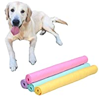 Sotoboo Dog Towel Super Absorbent Large - Pva Quick Dry Pet Towel - Super Absorbent Towel Absorber Synthetic Drying Chamois for Dogs Cats (M)